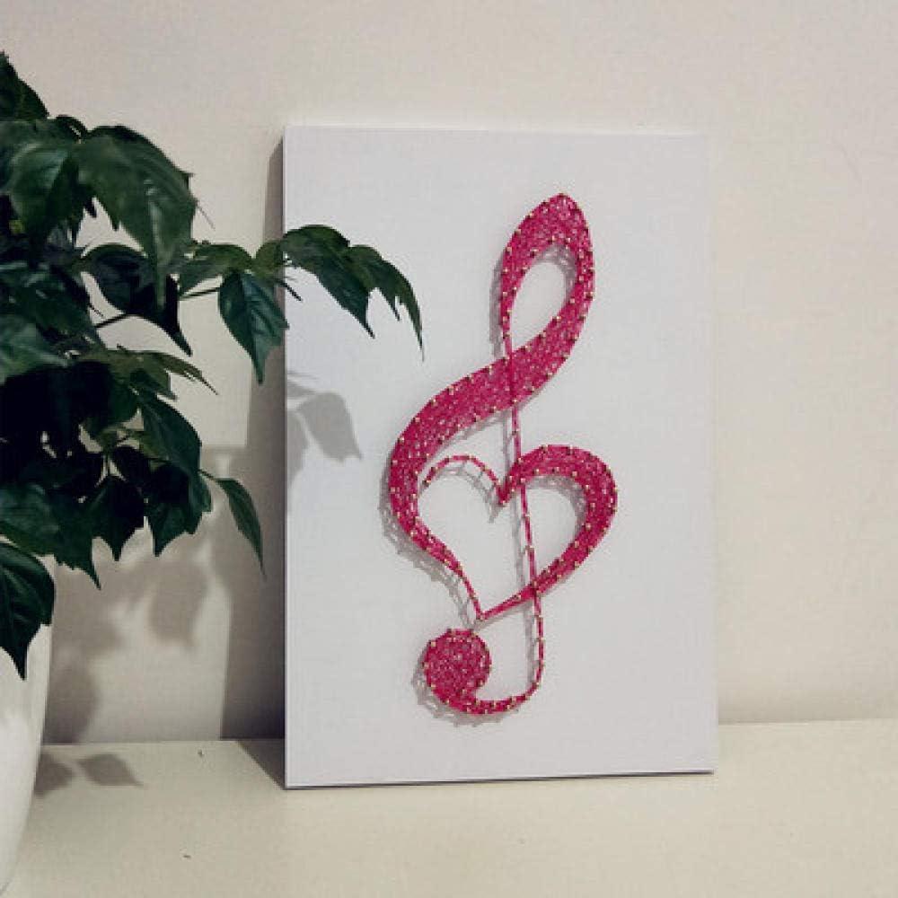 sswyfc Adornos de Regalo para el Día de San Valentín DIY Nail Winding Material Hecho a Mano Cadena Seda Pintura 20 * 30cm