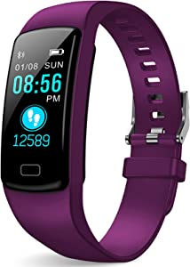 LEKOO Fitness Tracker - Activity Tracker with Heart Rate Monitor - Fitness Watch Waterproof Smart Watch with Step Counter - Pedometer Watch for Kids Women and Men