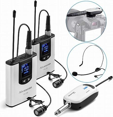 Alvoxcon - Sistema de micrófono inalámbrico de solapa para iPhone ...