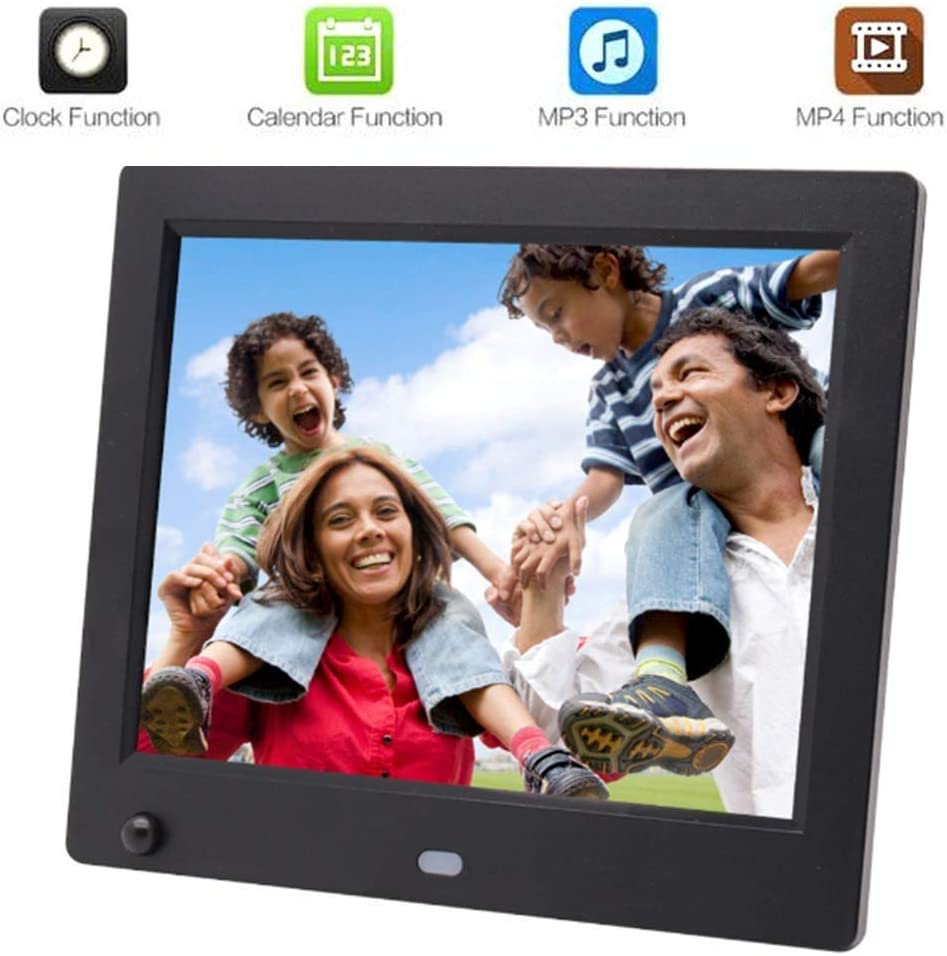 LED Picture Videos Frame with Motion Sensor Digital Picture Frame 8 Inch Digital HD Picture Frame HD Resolution Advertising Media Player,Support Automatic Switch Machine Electronic picture frames