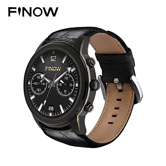 Finow Smart Watch X5 Air Wearable Devices Android OS 2GB RAM 16G ROM Heart Rate Monitor Pedometer WiFi 3G Bluetooth Watch Phone (Black)