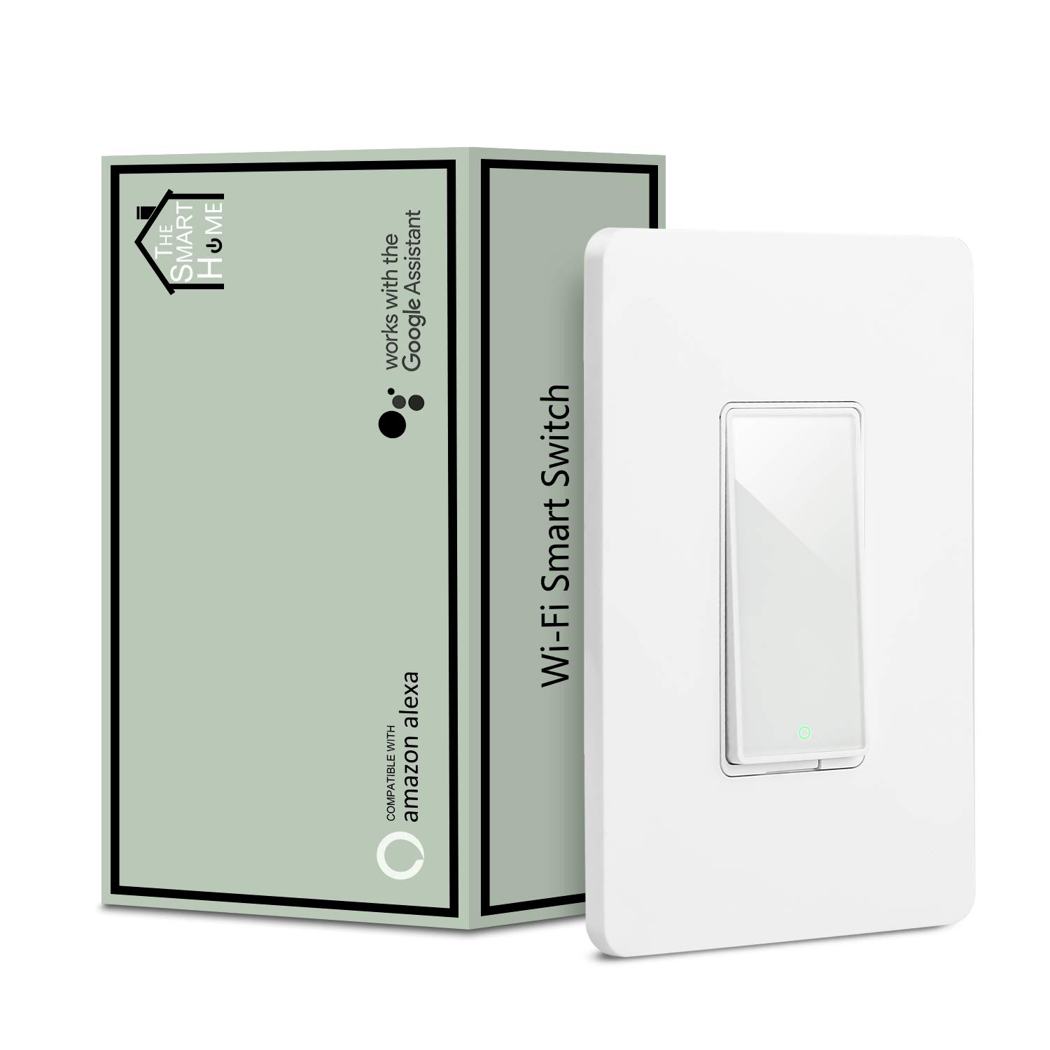Smart Switch by Martin Jerry | Compatible with Alexa, Smart Home Devices Works with Google Home, 2.4G Wifi, No Hub is required, Easy installation, App and Voice control (1 Pack)