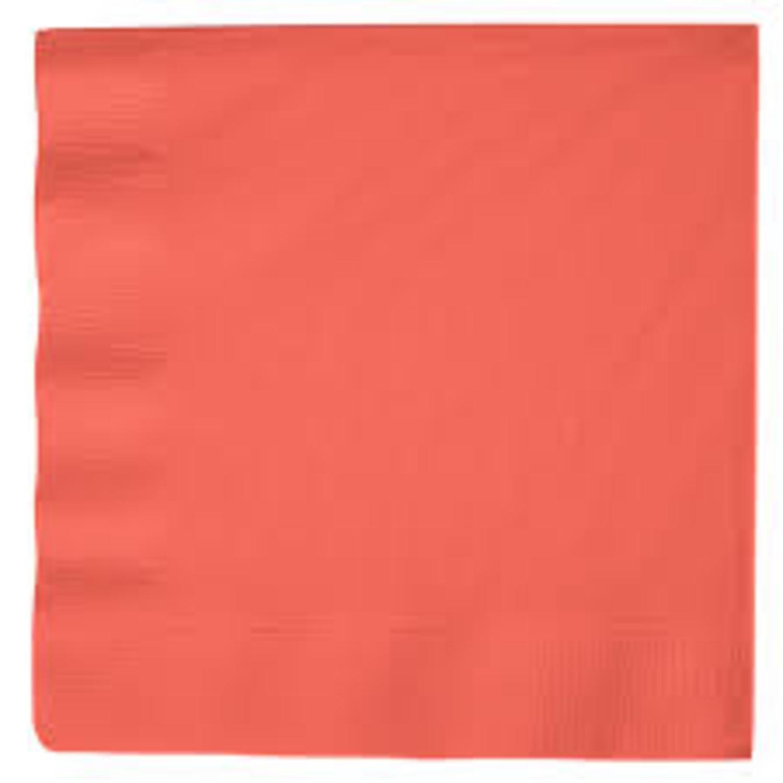 クラブパック600のソリッドコーラルピンク、2層の使い捨て紙パーティーLuncheon Napkins 6.5