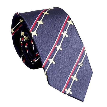 Y-WEIFENG Corbata en Forma de Corbata para Hombre Estilo ...