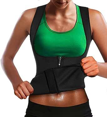 Memoryee Chaleco de Sauna de Neopreno para Mujer Fitness Ejercicio Fitness Pérdida de Peso Corsé Chaleco Corsé