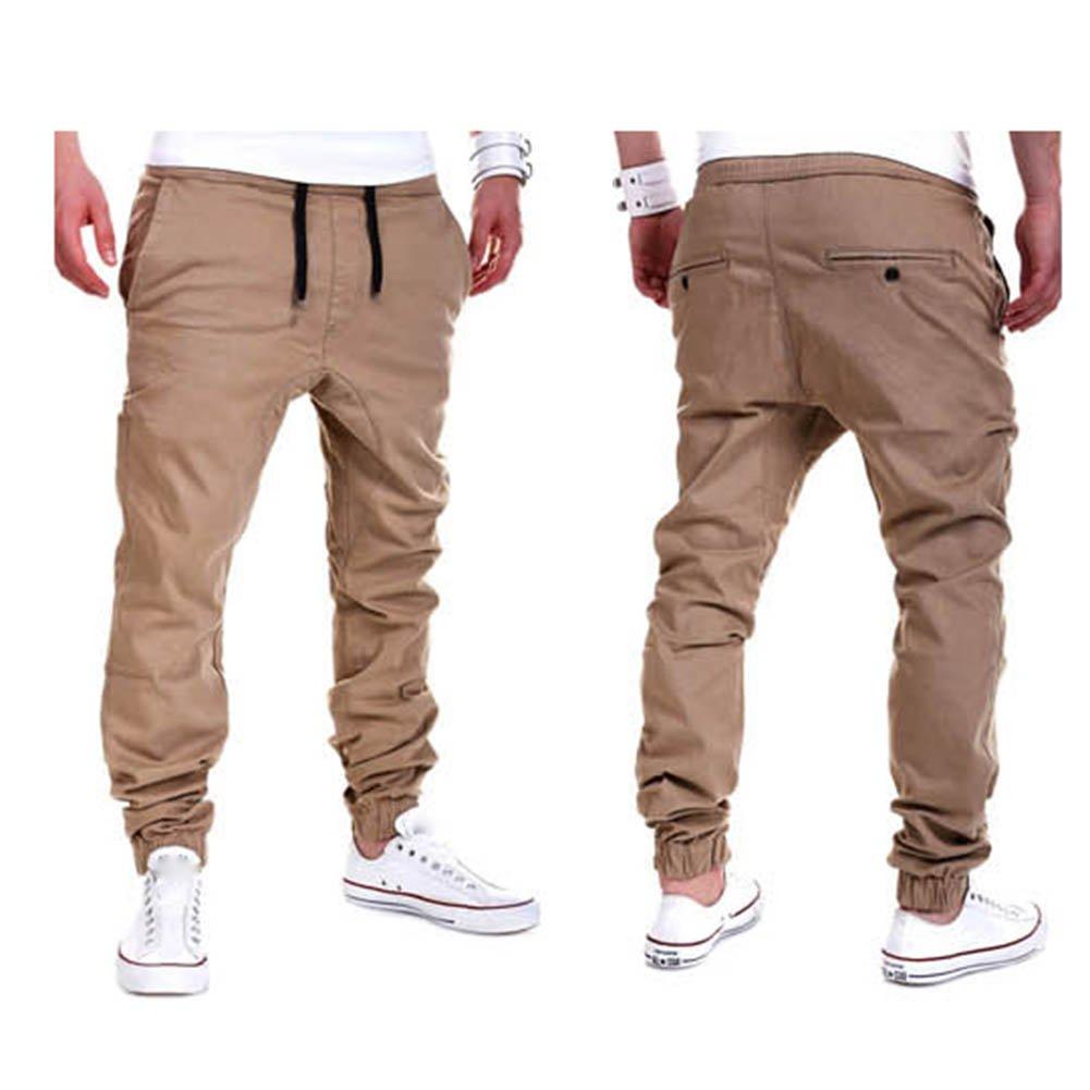 Moda Pantalones Para Hombre Jogging Fitness Deportivos Pantalon De Chandal Slim Stretch Casuales Largos Jogger Pantalones Pantalones