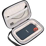 Lacdo Hard Travel Case for SanDisk 250GB 500GB 1TB 2TB Extreme Portable SSD - USB-C, USB 3.1 - SDSSDE60-G25 EVA Shockproof Carrying Storage Bag, Black