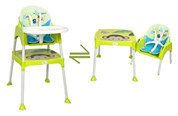 Buy R For Rabbit Convertible Baby High Chair With Cushion (Green, HCCBBG1)  Online At Low Prices In India   Amazon.in