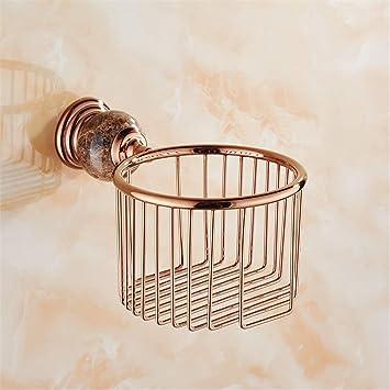 Accesorios de baño Juego de baño europeo colgante para baño conjunto de accesorios de baño marrón