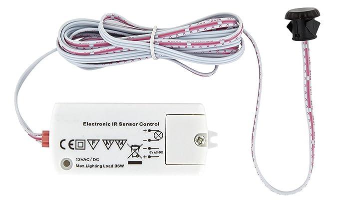 Mini empotrable IR Sensor Detector de movimiento 12 V 36 W – LED Adecuado – Carga