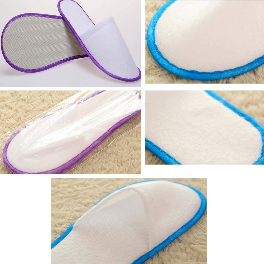 20 Pairs Hotel Disposable Slippers Disposable Spa-Salon Slippers - 20 Pairs Hotel Disposable Slippers Disposable Spa-Salon Slippers by Generic (Image #2)