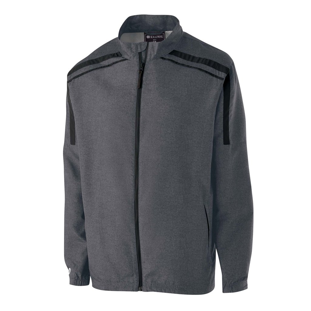 Holloway Raider Youth Lightweight Jacket (Small, Carbon Print/Black) by Holloway