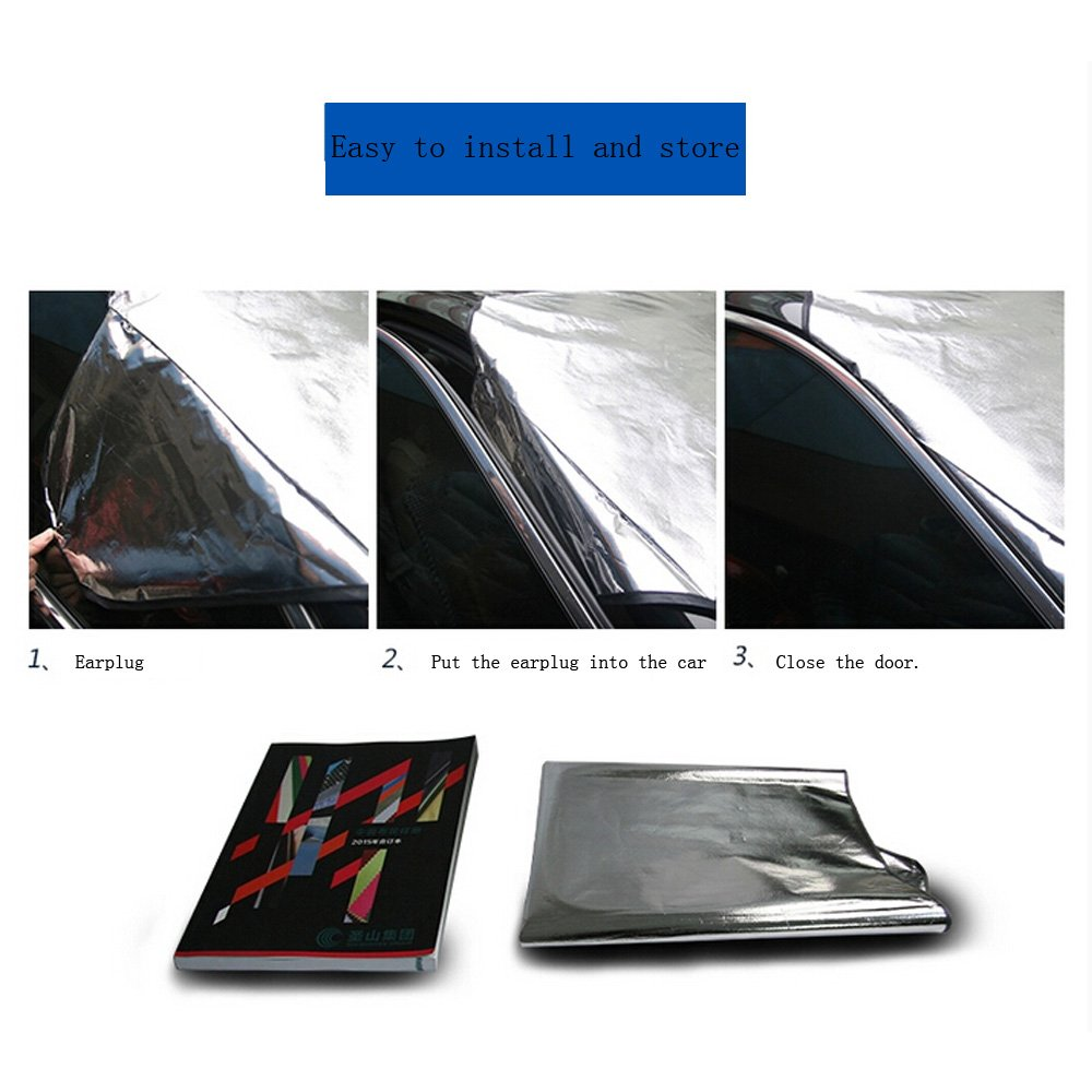 AUTOPDR Multipurpose Folding Automotive Car Sun Shade Windshield Snow Cover Protector Shield Guard Fits for ALL Vehicles Cars SUVs Foil Blocked UV Reflective Anti-UV Ice Frost