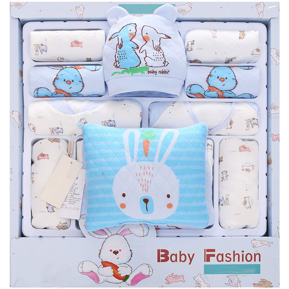 RONSHIN Autumn and Winter Thicken Version Infant Cotton Baby Suit Gift Set Baby Supplies blue Thickened Radish Rabbit C by RONSHIN
