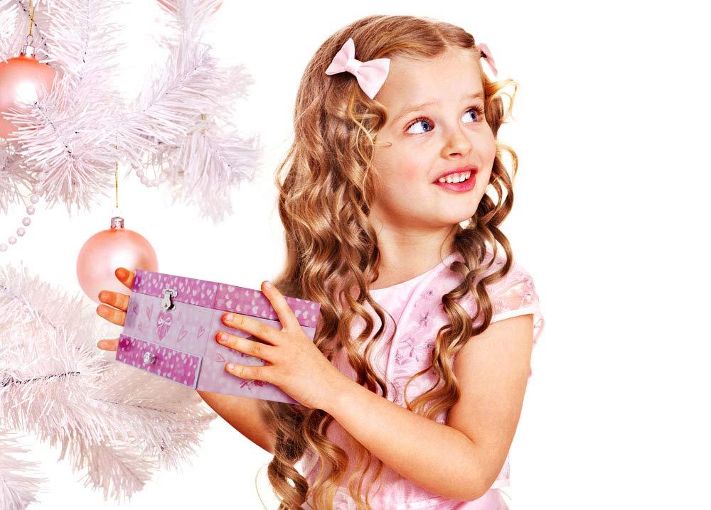 Box Speichern mit Schublade und Ballett Halsketten mit Wunderbar Meerjungfrau Thema Glocke Schmuckk/ästchen RPJC Kinder Musik Wundersch/ön Tr/äumer Tune Blau