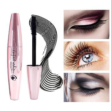 73813ee774a Amazon.com : Vanelc 3D Black Mascara 4D Silk Fiber Lash Lengthening Thick  Curling Waterproof Long lasting Eye Makeup Extension Tool : Beauty