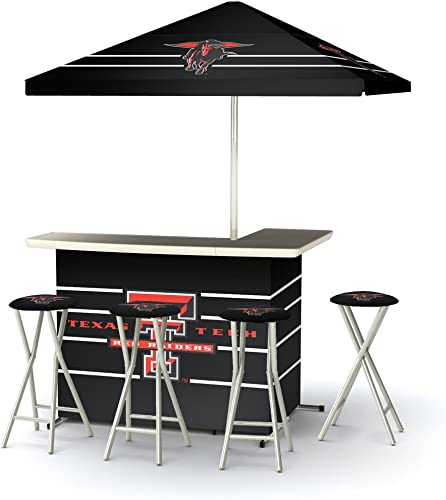 Best of Times Collegiate Patio Bar and Tailgating Center Deluxe Package- Texas Tech