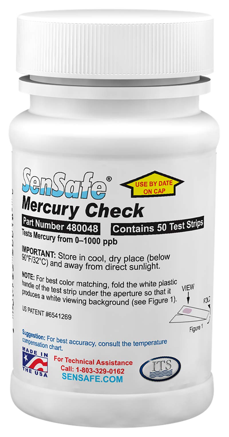 Industrial Test Systems WaterWorks 480048 Mercury Check, 2 Minutes and 30 Seconds Test Time, 50-1000 ppb Range (Bottle of 50) by Industrial Test Systems