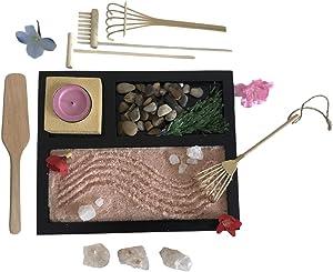 Japanese Zen Garden with Himalayan Salt and Rocks - Unique Decoration - Create Your Inner Zen