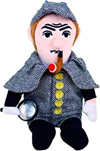 """The Unemployed Philosophers Guild Sherlock Holmes Little Thinker - 11"""" Plush Doll for Kids and Adults"""