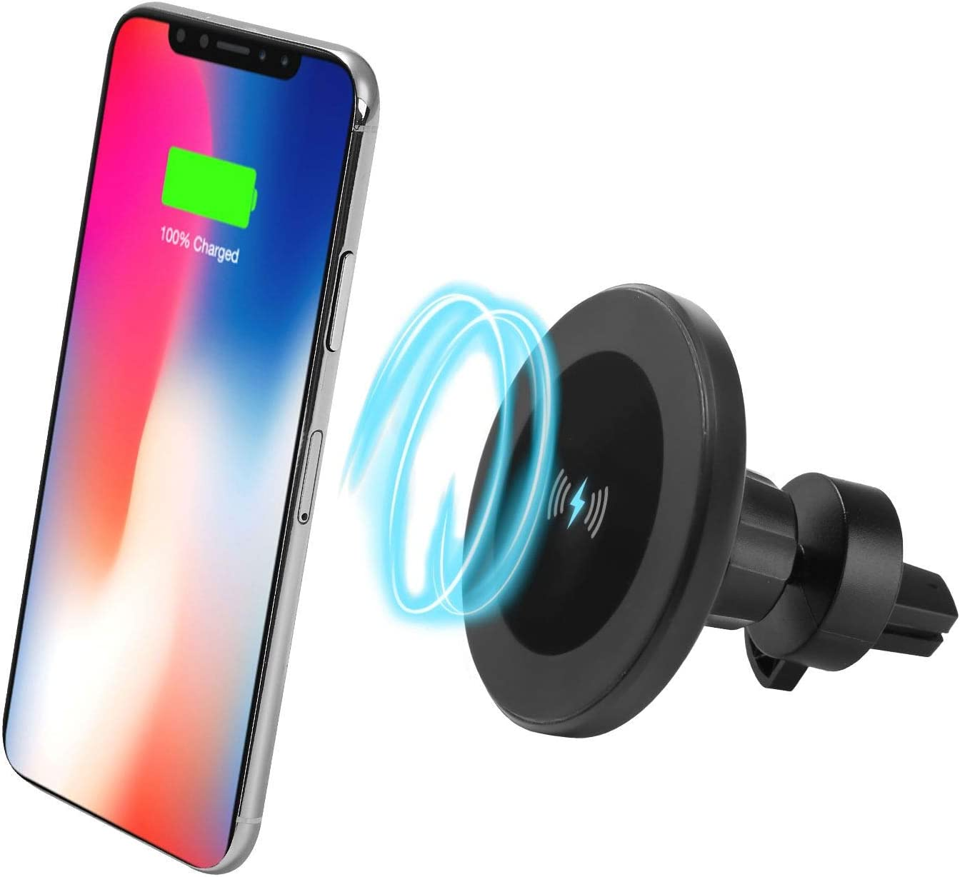 S8 Plus S7 S7 Edge S6 Edge Plus Note 8、Apple iPhone X//8//8 Plus and All QI-Enabled Devices S8 S8 No Car Charger XINLON Magnetic Fast Wireless Car Charger,Wireless Charging for Samsung S9 S9