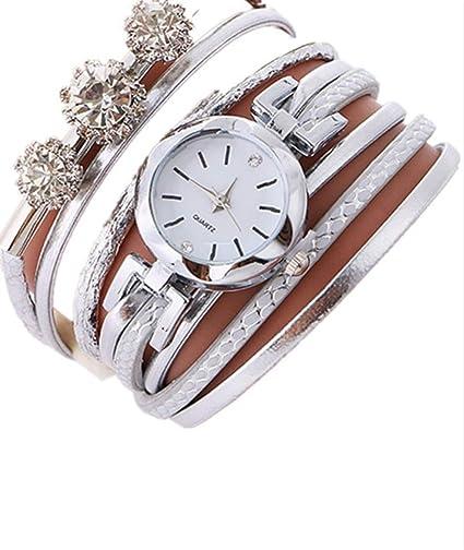 Reloj para mujer con grandes circonitas en la pulsera: Amazon.es: Relojes