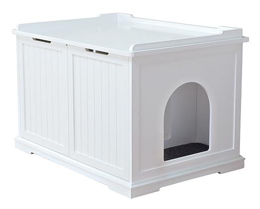 TRIXIE Cabine de toilette - 75 x 51 x 53 cm - Blanc - Pour chat: Amazon.es: Productos para mascotas