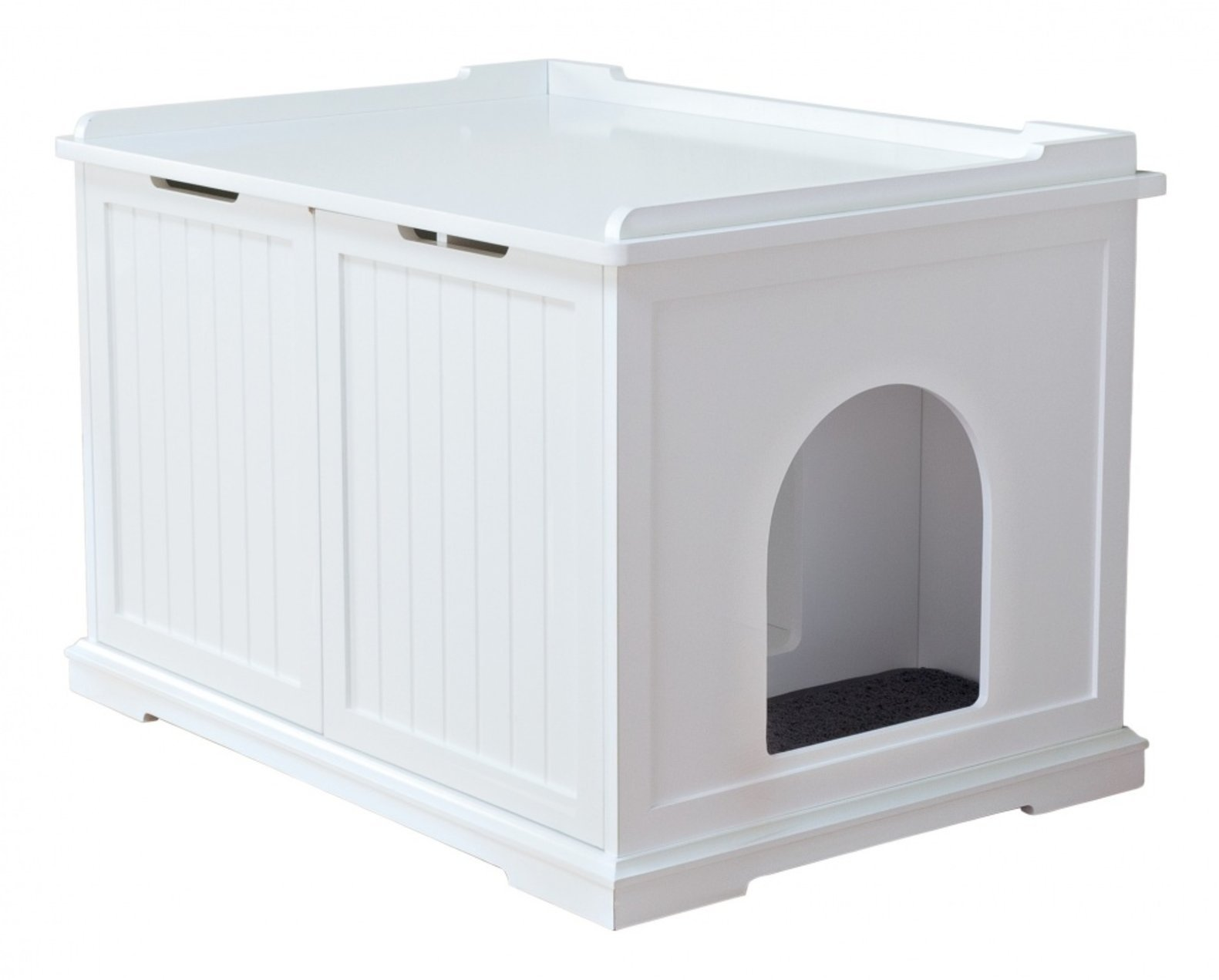 TRIXIE Pet Products Wooden Pet House X-Large and Litter Box, White
