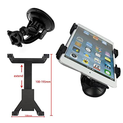"""Interesting® Vehículo Auto parabrisas ventosa monta soporte ajustable de 7-11"""" Tablet PC"""