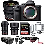 Cheap Sony a7S II ILCE7SM2/B E-Mount Mirrorless Camera with Full-Frame Sensor + Rokinon Cine Lens Kit (24mm, 35mm, 85mm)