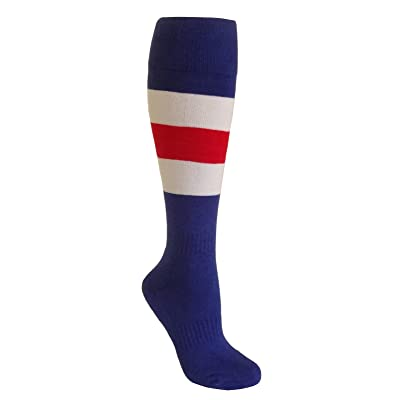 b529ebd907be SockTower Adult Big Boy Girl Youth Kid Sports Athletic Crew Baseball  Softball Cotton Knee High Socks Youth/Adult Shoe=4-6 (Foot=7-9