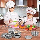Exqline Kids Kitchen Pretend Play Toys - 25 Pcs