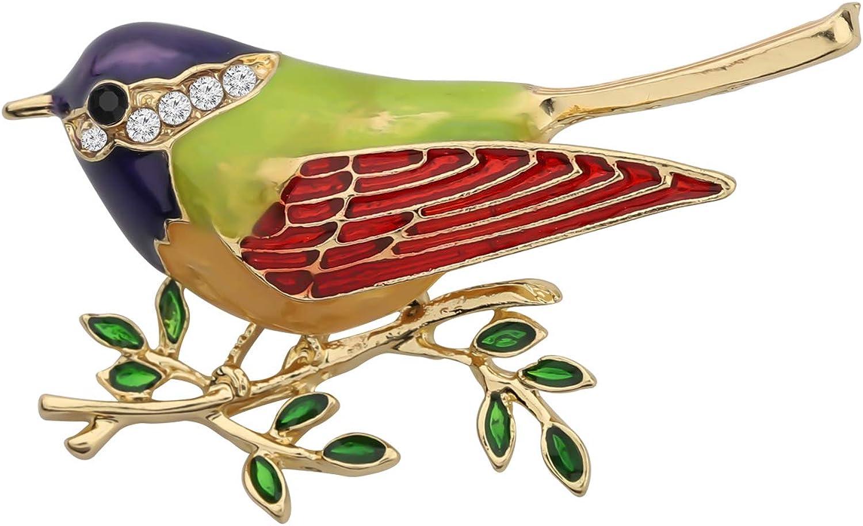 girlfriend gift sparrow beaded brooch Bird brooch pin