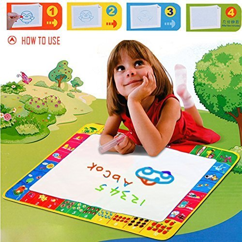 3' Basketball Sports Figure (TAORE Kids New Water Drawing Painting Writing Mat Board Magic Pen Doodle Toy Gift 80cm x 60cm)