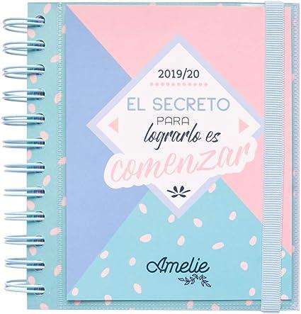Agenda escolar 2019/2020 día página M Amelie: Amazon.es: Oficina y ...