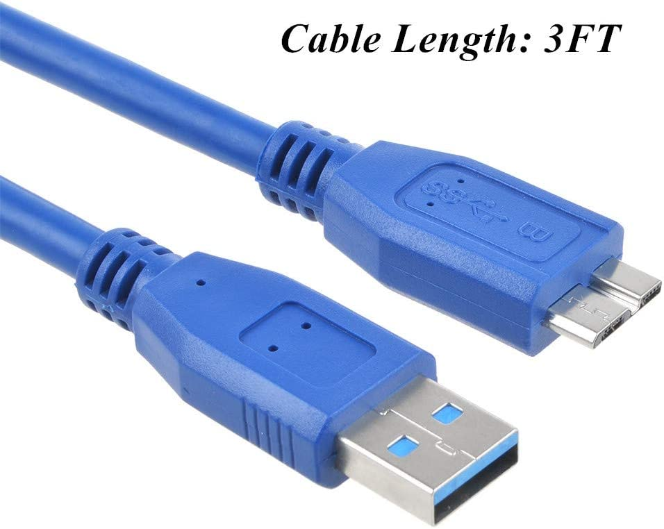 SLLEA 3ft USB 3.0 Cable Cord Compatible with WD My Passport Portable Hard Drive 4TB WDBYFT0040BBK