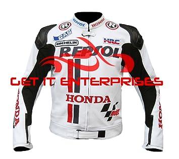 Honda Repsol Moto motocicleta Racing chaqueta de piel: Amazon.es: Coche y moto