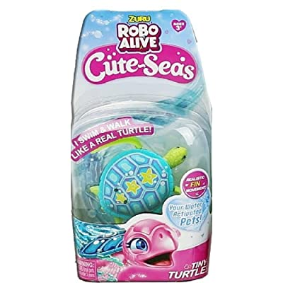 ROBO ALIVE Cute Seas Tiny Turtle Blue Green SHELBY Swim Twirl Glide: Toys & Games