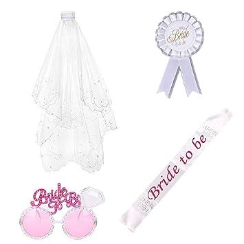 ResPai Hen Do Party Accessori Novia A Ser Bride To Be Sash Blanco ...