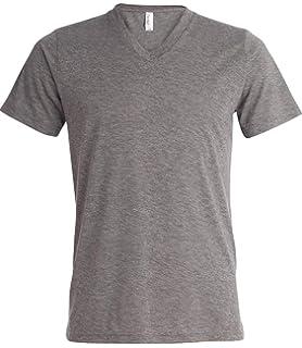 Amazon.com: Yoga Clothing For You Mens Tri Blend V-Neck Tee ...