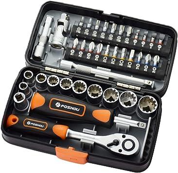 Tubayia - Juego de herramientas de 38 piezas, llave dinamométrica ...