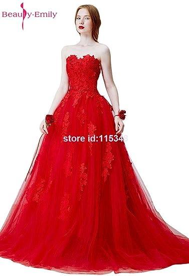 Beauty-Emily A Line Soft Tulle Appliques Lace Sweetheat Neckline Elegant  Formal Bridal Wedding Dresses d28b4e4cd