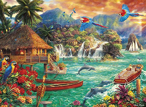 Buffalo Games - Chuck Pinson Escapes - Island Life - 1000 Piece Jigsaw Puzzle from Buffalo Games