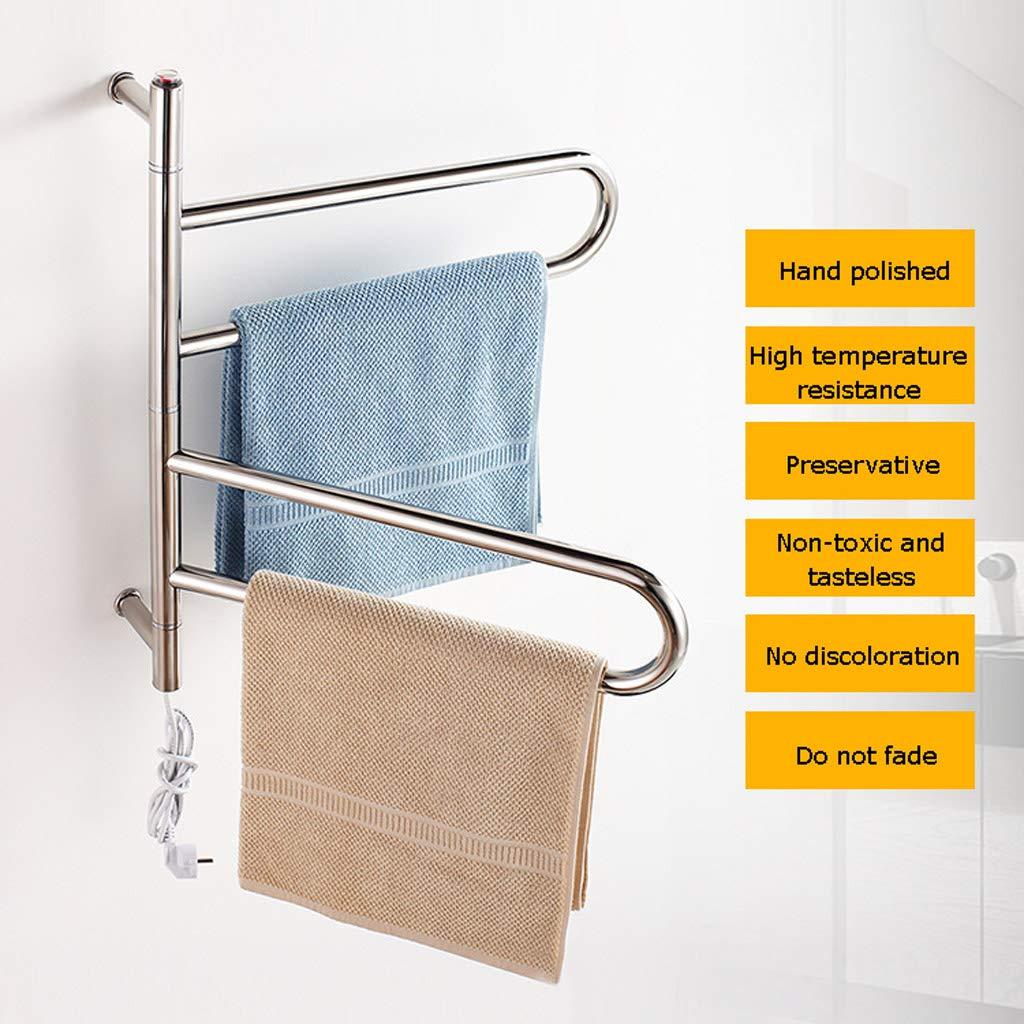 Elektrisch beheizter Handtuchhalter Bad W/äschest/änder Edelstahl Bad Handtuchhalter Handtuchhalter Regal 304 Anh/änger