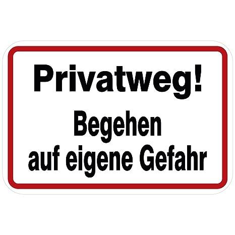 Cartel - Privado Camino. transitar en alemán - Talla aprox ...