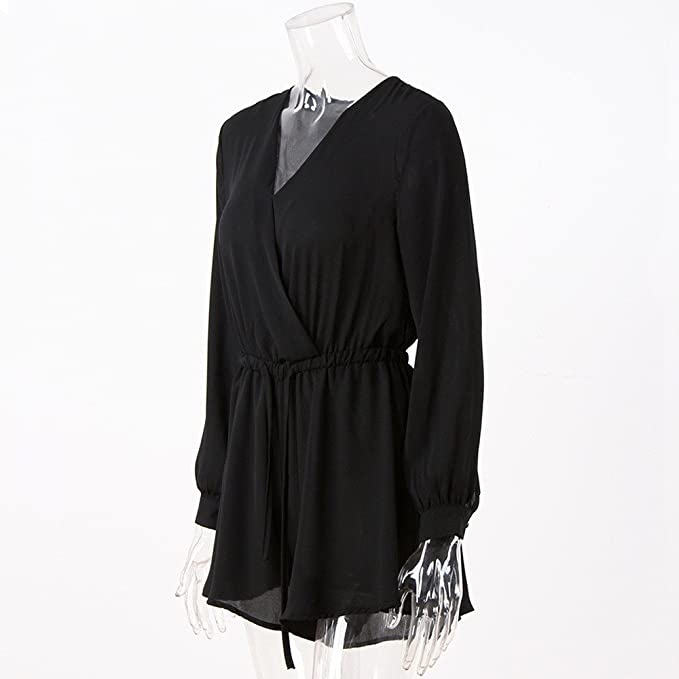 ZORE 👚 Ropa de Mujer, Mono Mujeres V-Neck Long Sleeve Chiffon Playsuit Ladies Jumpsuit: Amazon.es: Ropa y accesorios