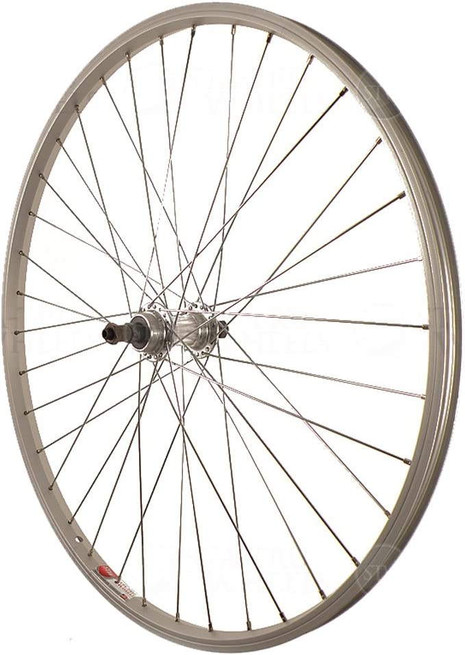 7 Speed Rear Bicycle Freewheel  Hub  36 H Silver Quick Release 5 6