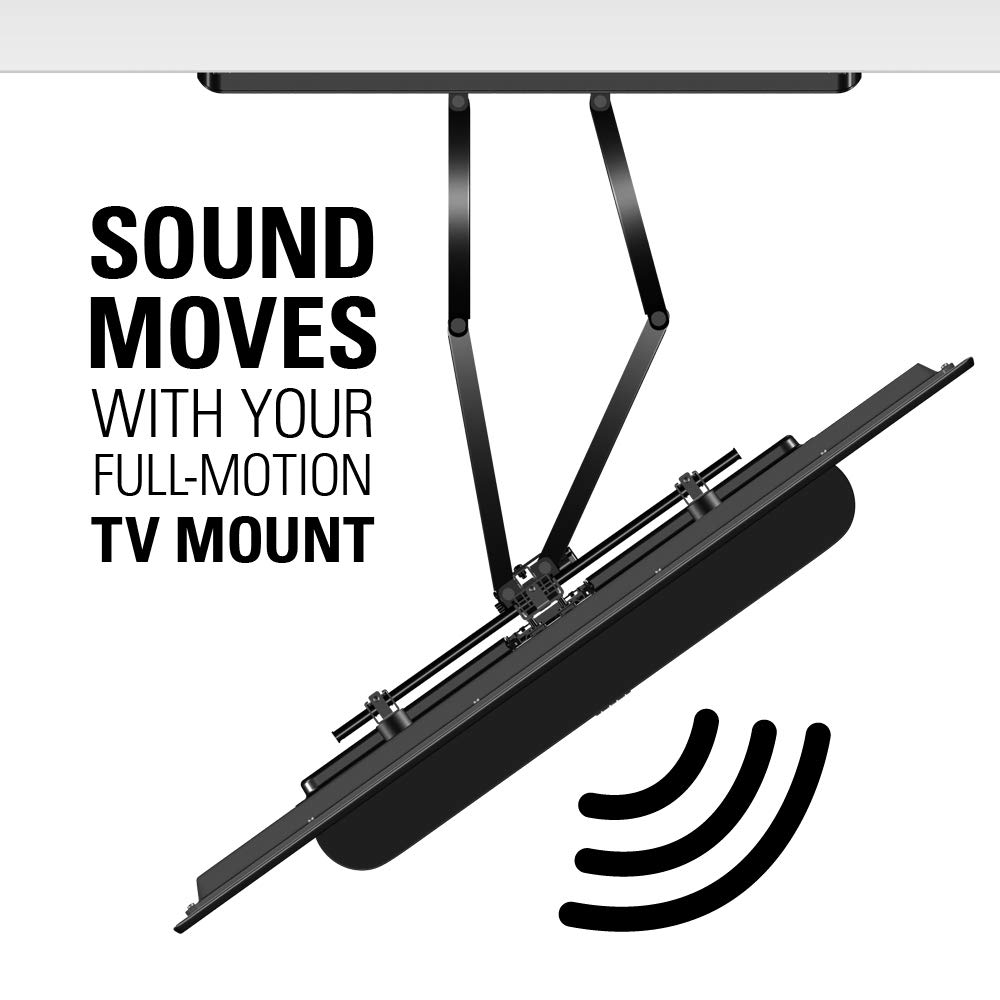 Sanus Soundbar Mount Compatible with Sonos Beam - Height Adjustable Up to 12'' & Designed to Work with Any TV - Custom Fit to The Beam for Optimal Audio Performance by Sanus (Image #6)