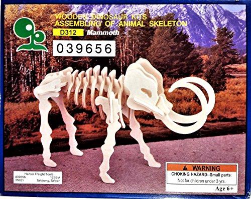 Wooden Dinosaur Kits Assembling of Animal Skeleton - Mammoth