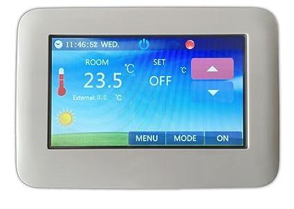 LKM Security lkm-trmth02b Termostato WiFi táctil, blanco